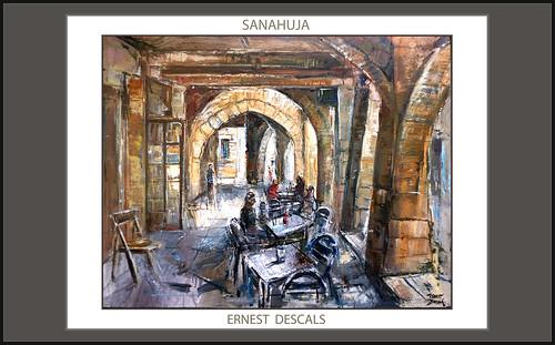 Sanahuja pintura cafeteria voltes paisatges pobles lleida pintures catalunya artista pintor - Pintores en lleida ...