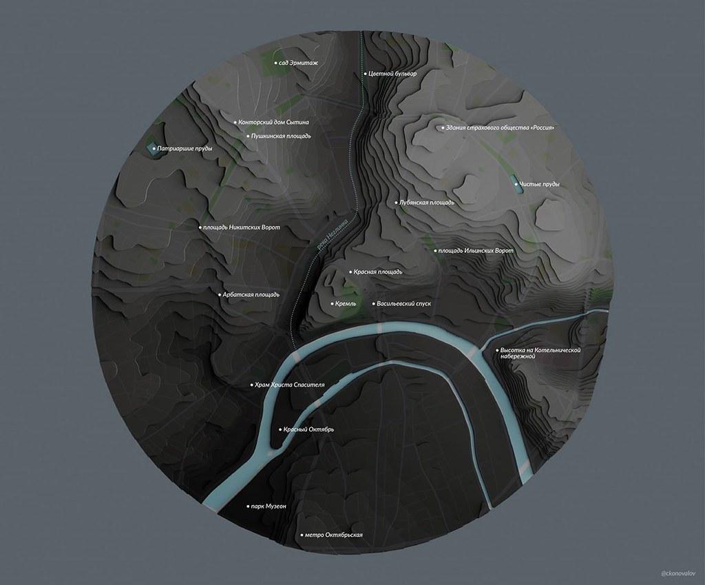 Карта с основными POI