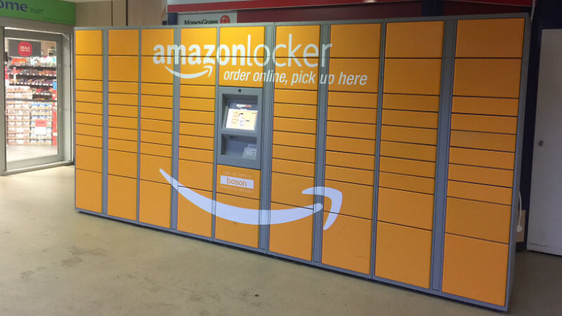The Amazon Locker on campus