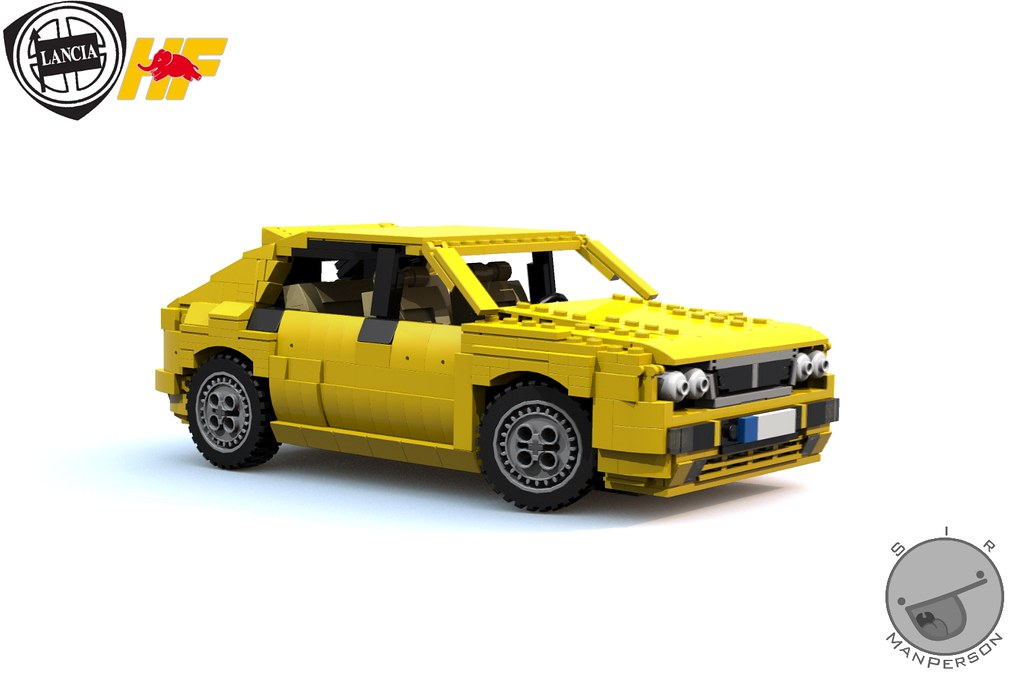 Lancia Delta Hf Intergrale Fornt Angle 14 Wide Lego