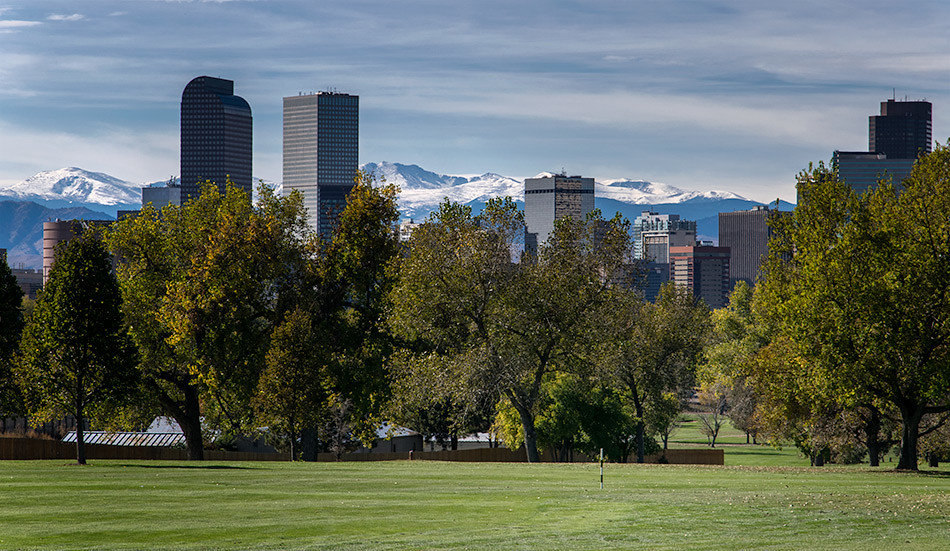 Denver Skyline from City Park Golf Course