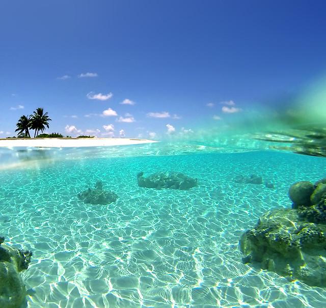 Islas de Maldivas con aguas cristalinas, viajar barato al paraíso es posible