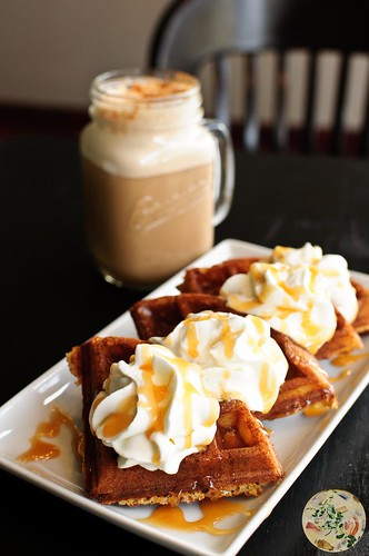 Salted Caramel Waffles With Chai