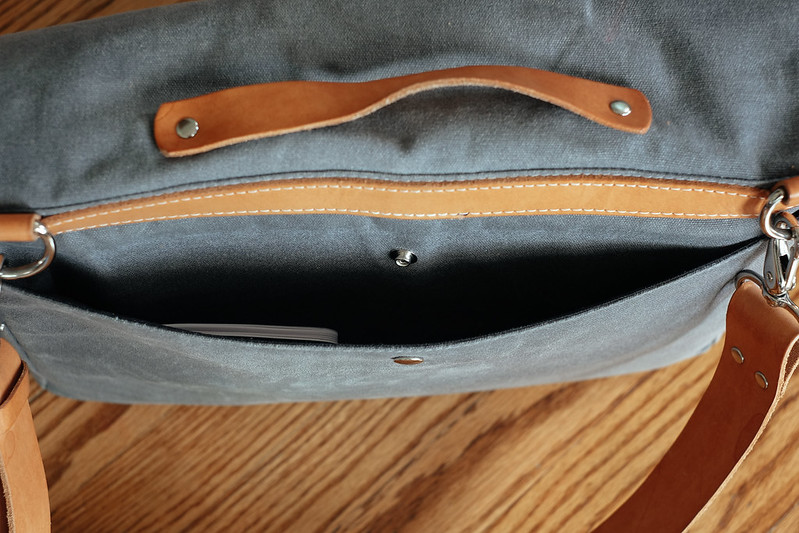 Ugmonk Messenger Bag outside back pocket