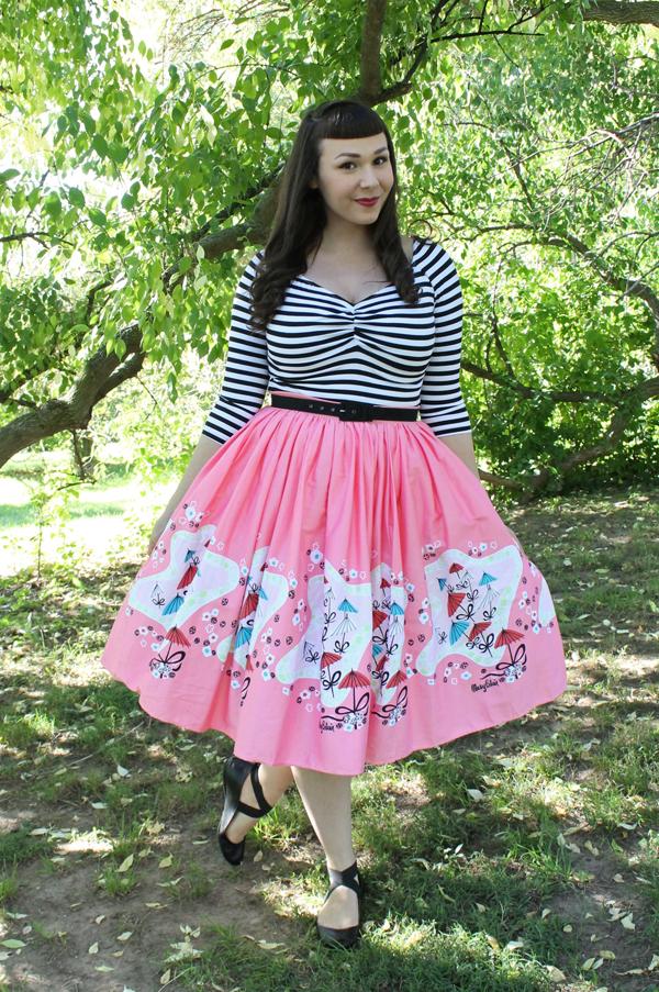 mary blair umbrella print skirt