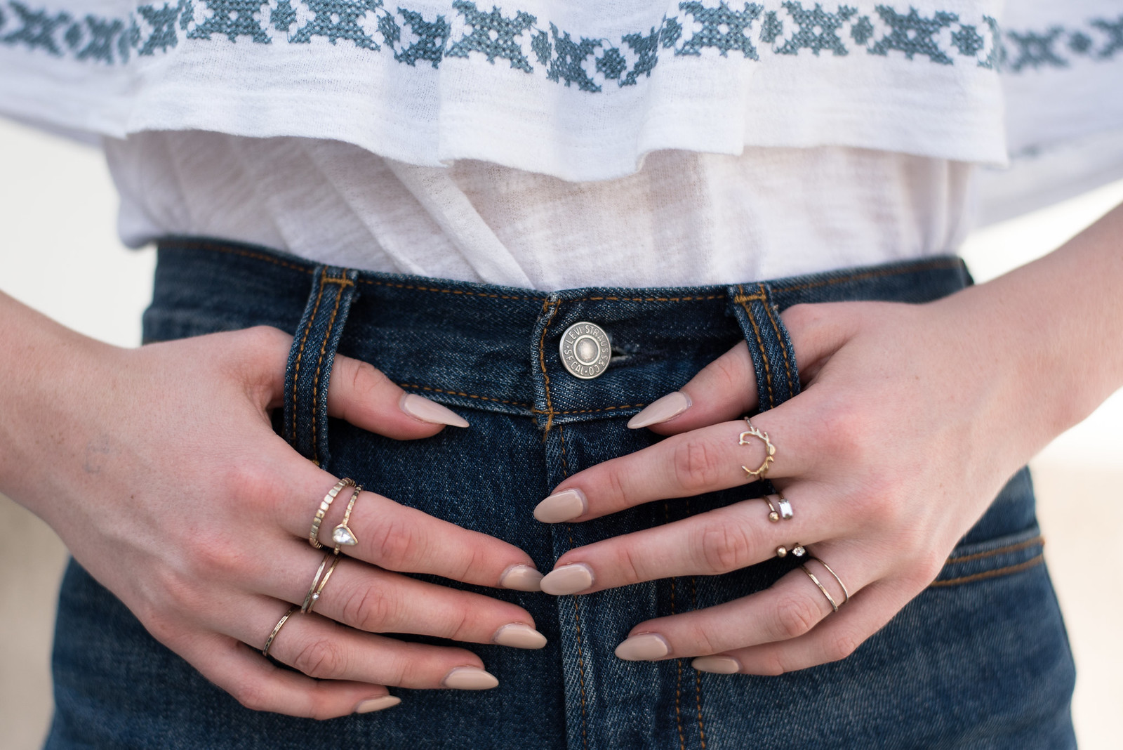 Levi's and Rings on juliettelaura.blogspot.com