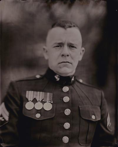 Nashville tintype portrait marine