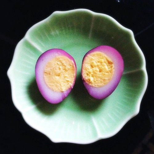 Sweet, Pickled, Purple, Quail, Eggs, recipe, dyed, natural dye,  甜, 醃, 鵪鶉蛋