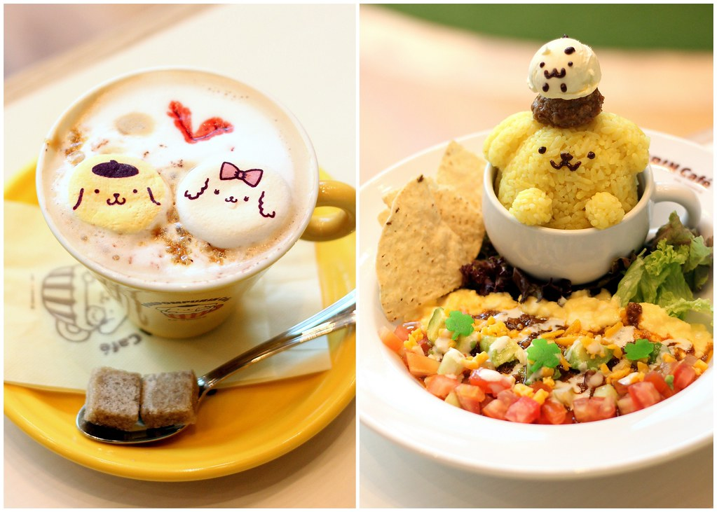 Pompompurin-cafe-taco-rice-in-a-cup-of-friends-and-latte咖啡