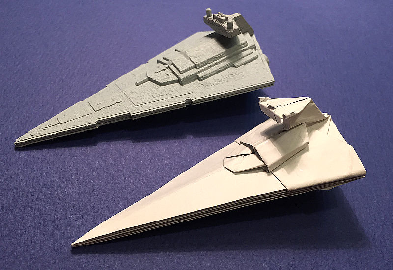 Star Destroyer origami real-angled version just succeeded ... - photo#4