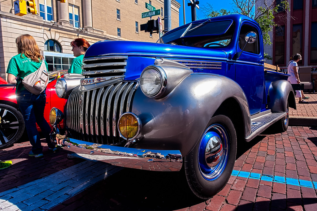 Vintage chevy truck back to the bricks 2015 george thomas flickr