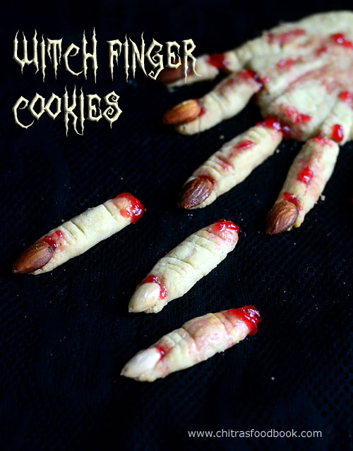 Witch finger cookies recipe