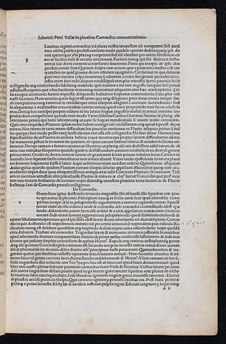 Plautus, Titus Maccius: Comoediae - Marginal annotations
