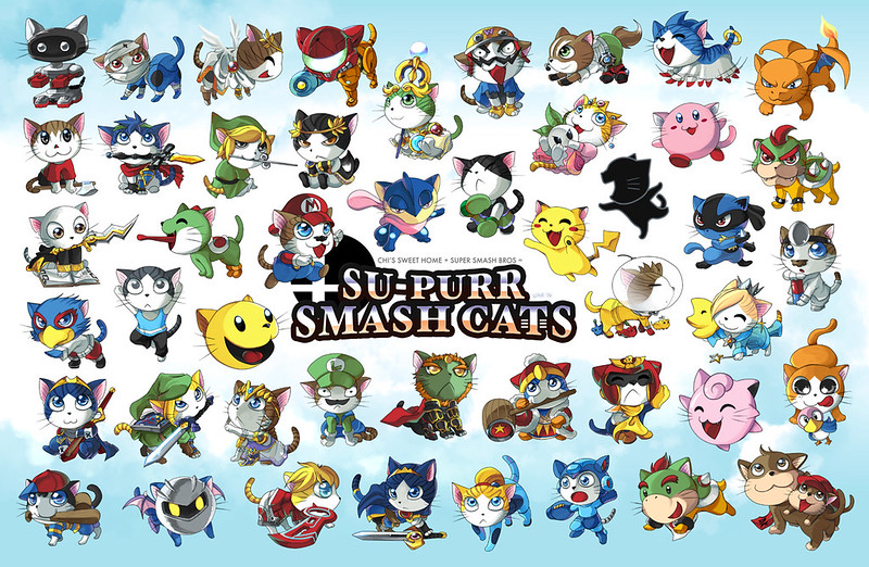 Cats vs Super Smash Bros. by suzuran