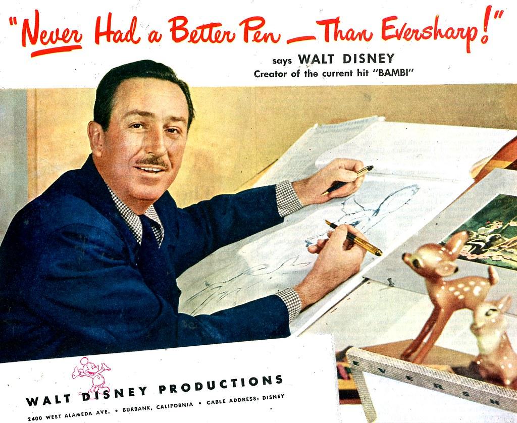 Walt Disney for Eversharp   May 1, 1948 Saturday Evening Pos ...