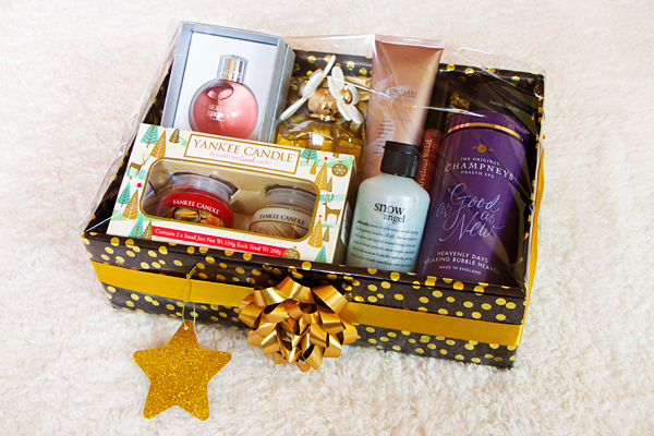 Sparklyvodka 2015 here is my finished diy christmas beauty hamper i think it looks absolutely smashing i really enjoyed putting it together it was much easier to do than solutioingenieria Choice Image