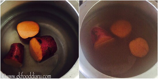How to Make Sweet Potato Puree for Babies - step 2