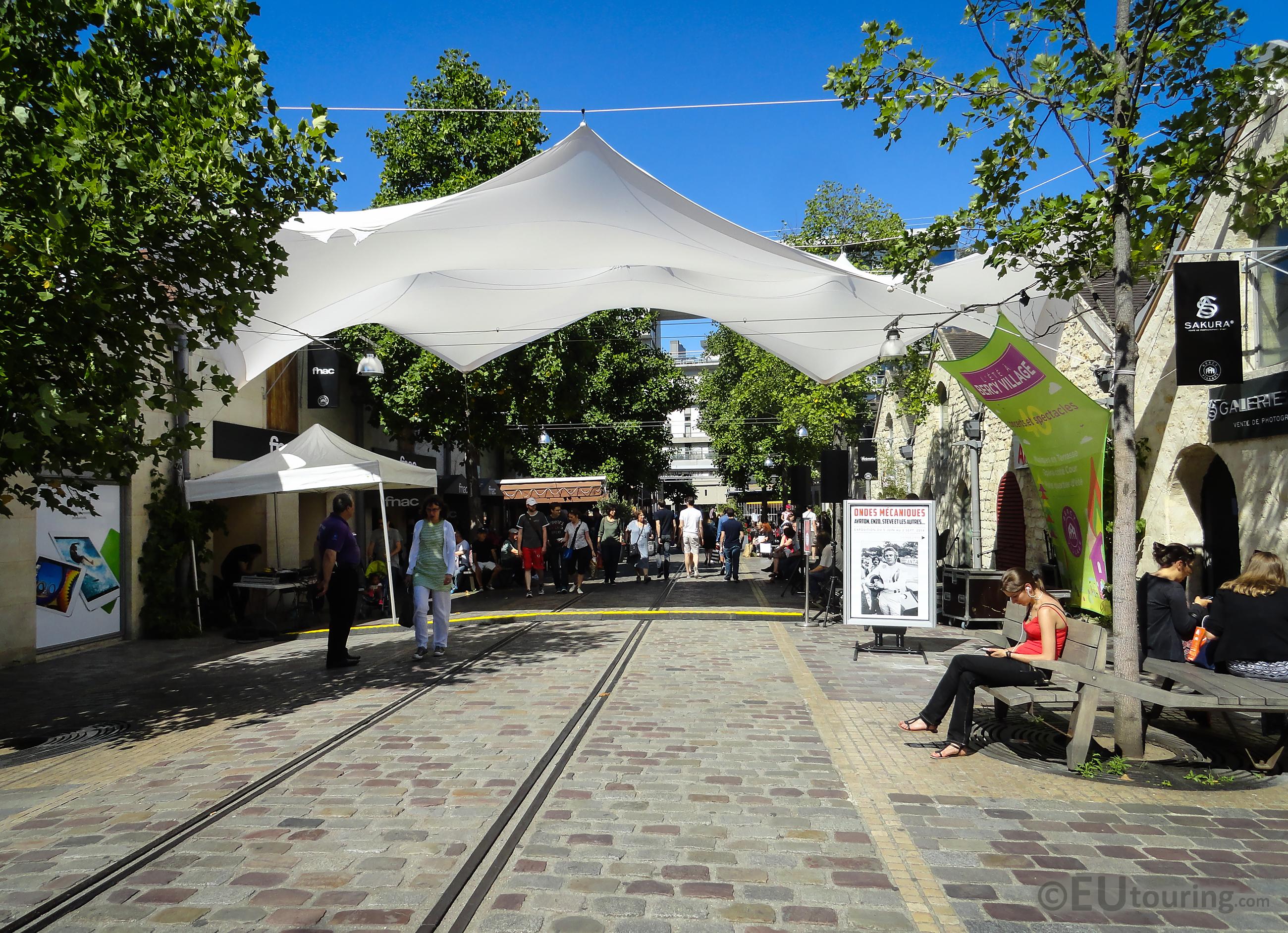 View down Bercy Village