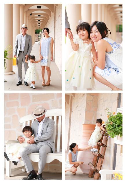 七五三写真 出張撮影 フラリエ 大須観音 名古屋市中区 ドレスと着物 女の子 家族写真 女性カメラマン おしゃれ 全データ