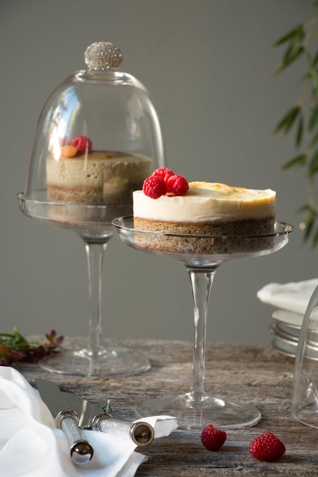 Sesame-Creme Brulee Cake