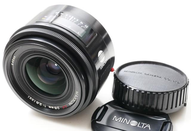 二手鏡頭 香港 . . . Minolta AF Maxxum 28mm f2.8  鏡片95新  對焦準夾快  發色豐富自然   好評如潮………..已售