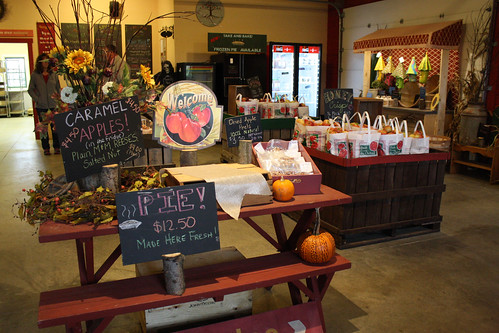 Leffel Roots Orchard sells food and drinks made from their apples at their on-site retail store.