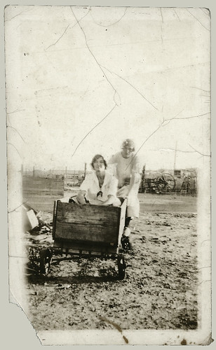 Two Women and a cart