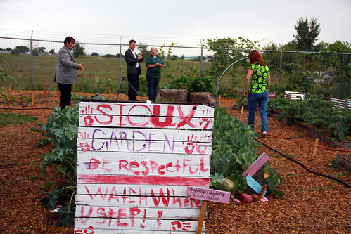 The Cannon Ball Elementary School Garden on the Standing Rock Sioux reservation in North Dakota