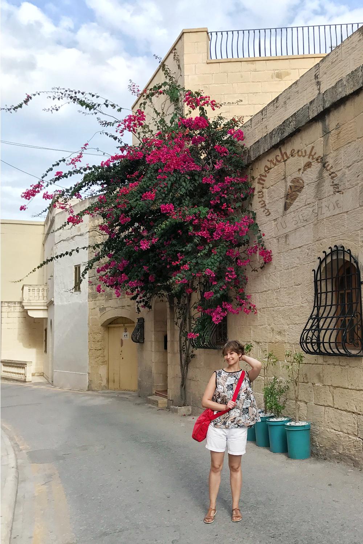 Malta, Mosta, wakacje, podróże, szycie, rękodzieło, bluzka z połowy koła, marchewkowa, blog, Wrocław szyje, travel, half-circle blouse, vintage, retro