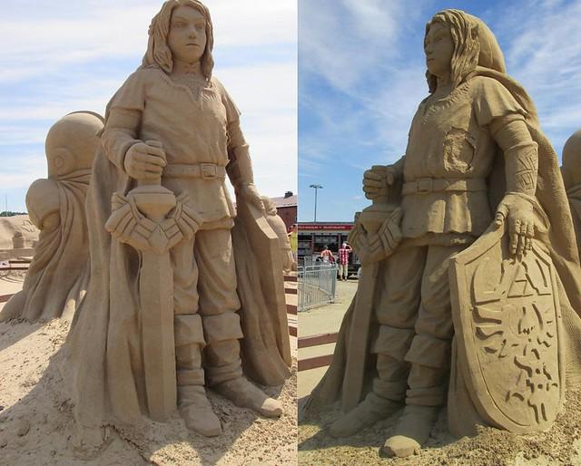 The Legend of Zelda - Link Sand Sculpture