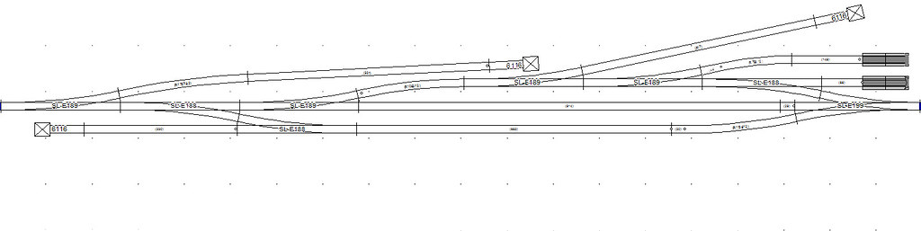 Hofheim/Ufr. Gleisplan Peco Streamline Code75 (SCARM)