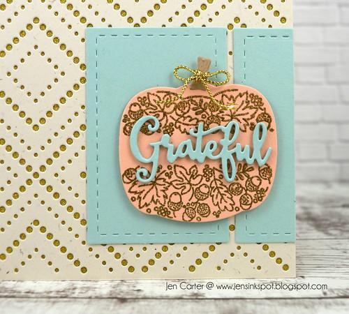 Jen Carter Grateful Pumpkin Flower Closeup