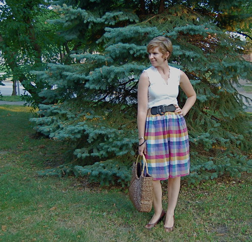 Plaid Skirt made from Dress | by academichic