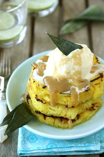 Grilled Pineapple with Brown Sugar Rum Sauce Recipe | by CookinCanuck