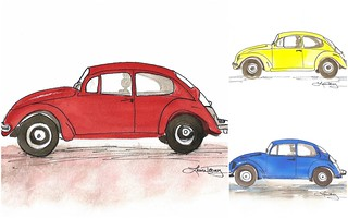 Punch Buggy watercolor prints | by lauratrevey