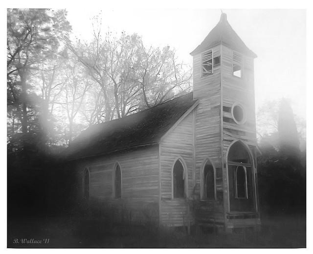 Abandoned Church 1 - Grayscale