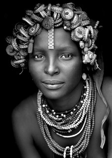 Daasanach tribe girl with a wig made of bottle caps on the head - Omorate Ethiopia | by Eric Lafforgue