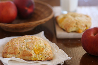 peaches cream scones 4 | by crumblycookie