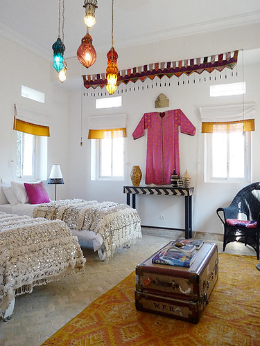 Peacock pavilions in marrakech morocco featured on my for Boho chic bedroom designs