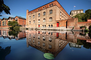 Victorian warehouse with Nottingham Castle in the background | by blinkingidiot