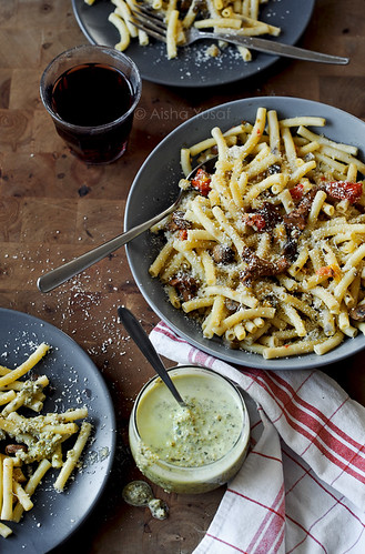 Mushroom Pasta with Cream Pesto | by aisha.yusaf