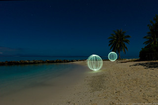 Light painting in Huahine, French Polynesia | by Pierre Lesage