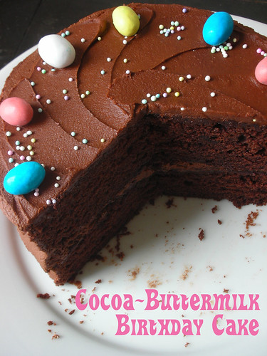 cocoa-buttermilk birthday cake | by awhiskandaspoon