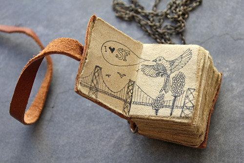 Tiny journal necklace | by Geninne