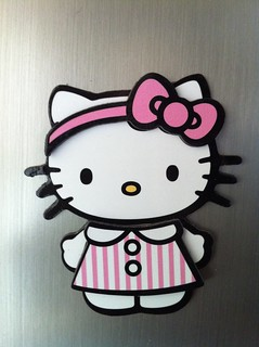 AZ Hello Kitty Fridge Magnet says hello to GA Hello Kitty Frirge Magnet | by SewPixie