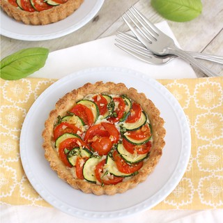 Zucchini, Tomato and Ricotta Tarts | by Tracey's Culinary Adventures