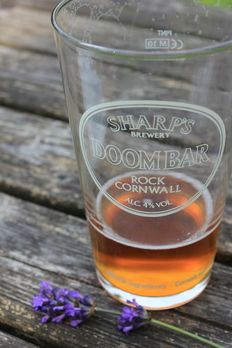 Cornish beer, English lavender at the Bathurst Arms, near Cirencester | by SeppySills