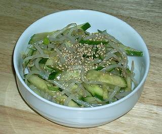 sukjunamul, soybean sprout side dish with cucumber 02 | by puppyjuggler