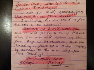 With much Love Always......BOBBY. | by passiveaggressivenotes