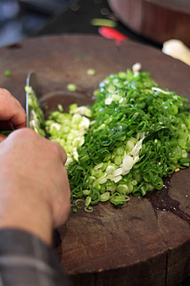 chopping scallions | by David Lebovitz